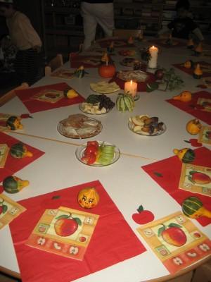 Zu einem Fest gehört ein schön gedeckter Tisch.