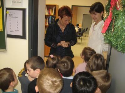 Am Schluss haben wir auch noch die Frau Direktor kennengelernt. Sie war sehr nett.